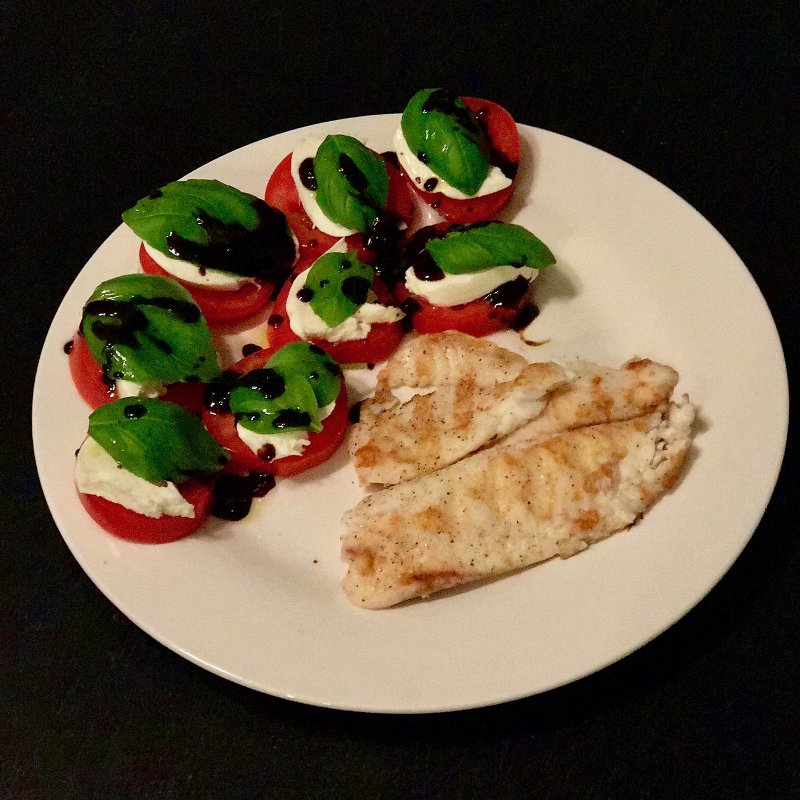 Grilled Tilapia with Caprese Salad